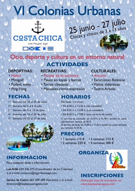 VI Colonias Urbanas Costa Chica 2018